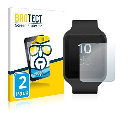 BROTECT Protector Pantalla Compatible con Sony Smartwatch 3 SWR50 Protector Transparente (2 Unidades) Anti-Huellas