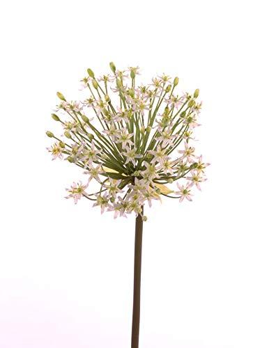 artplants.de Künstlicher Zierlauch Aleka, 65 Blüten, Creme, 90cm, Ø 30cm - Kunstblumen - Künstliches Allium