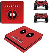PS4 Slim Console Skin Set Vinyl Decals Stickers for Playstation 4 Slim Console Dualshock 2 Controllers Super Hero (PS4 Slim Only) by Mr Wonderful Skin