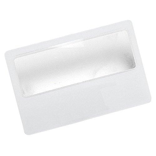Taschenlupe mit 5-facher Vergrößerung, dünne Linse