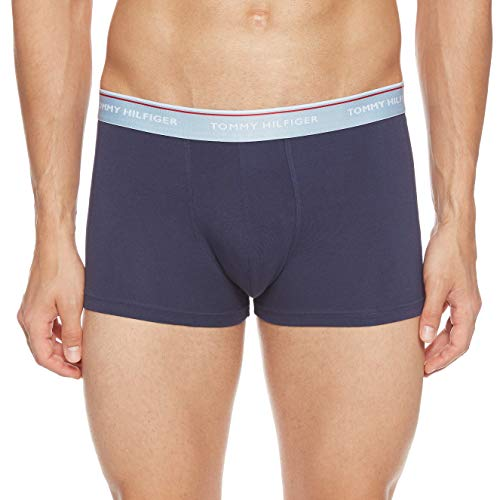 Tommy Hilfiger Trunk 3 Pack Boxershorts Blue Fog/Peacoat/Tango red