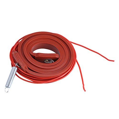 Zerodis 80W 220V Cinta Calefactora de Silicona, Calentador de Tubería Banda de Calefacción 100 x1.5cm Cables Calefactores de Tuberías Cable de Calefacción El Enchufe No Está Incluido