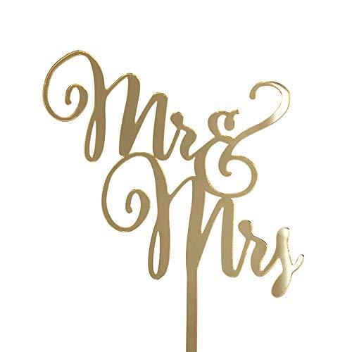 DEKOWEAR - Figura Decorativa para Tartas (acrílico), diseño de Mr & Mrs