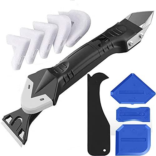 Aolex Juego de herramientas de silicona para eliminar juntas, raspador de juntas