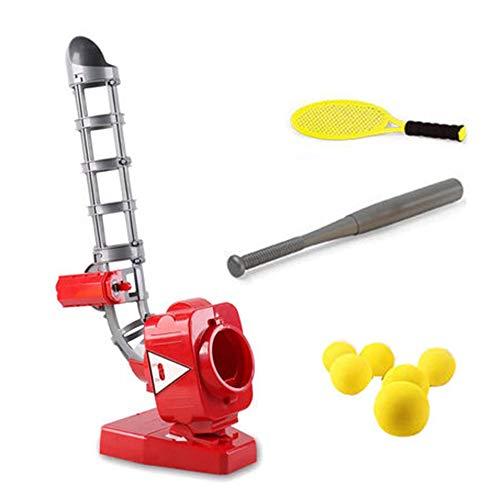 N / A Juego de Lanzador Exterior automático de béisbol, Altura Ajustable, Lanzador de Bolas al Aire Libre, Juguetes educativos para niños de 6 a 12 niños y niñas