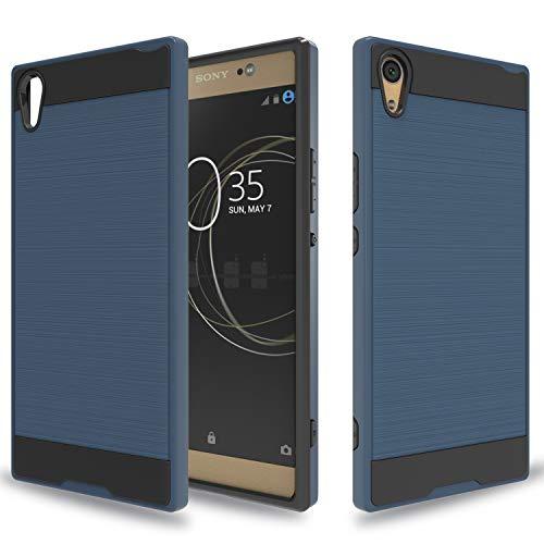 Wtiaw Für: Sony Xperia XA1 Ultra Hülle, Sony Xperia XA1 Ultra Dual Hülle, [TPU + PC Material] [Gebürstetes Metall] Hybrid Dual Layer Defender Hülle für Sony Xperia XA1 Ultra-CL Metal Slate