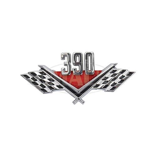 MACs Auto Parts 42-77405 Front Fender Emblem,'390', Fairlane,