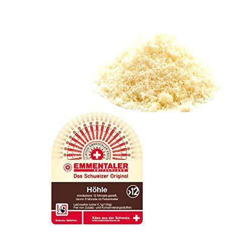 Original Schweizer Käse Emmentaler AOP höhlengereift 300 Gramm frisch gerieben