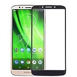 Lin-L Pantalla Frontal Lente de Cristal Externa for Motorola Moto G6 Play (Negro) Pantalla de Cristal Táctil (Color : Black)