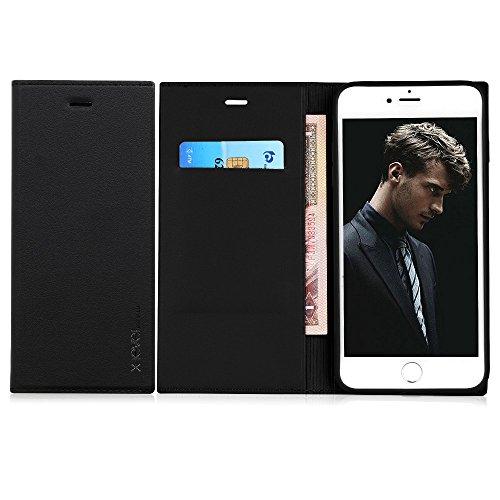 【X-Level】iPhone 7 Plus ケース iPhone 8 Plus ケース 手帳型 カード収納 Qi充電対応 横開き 二つ折り PUレザー ケース 耐衝撃 磁気吸着 軽量 薄型 ブランド 正規品 定期券入れ スタンド iPhone 7/8 P