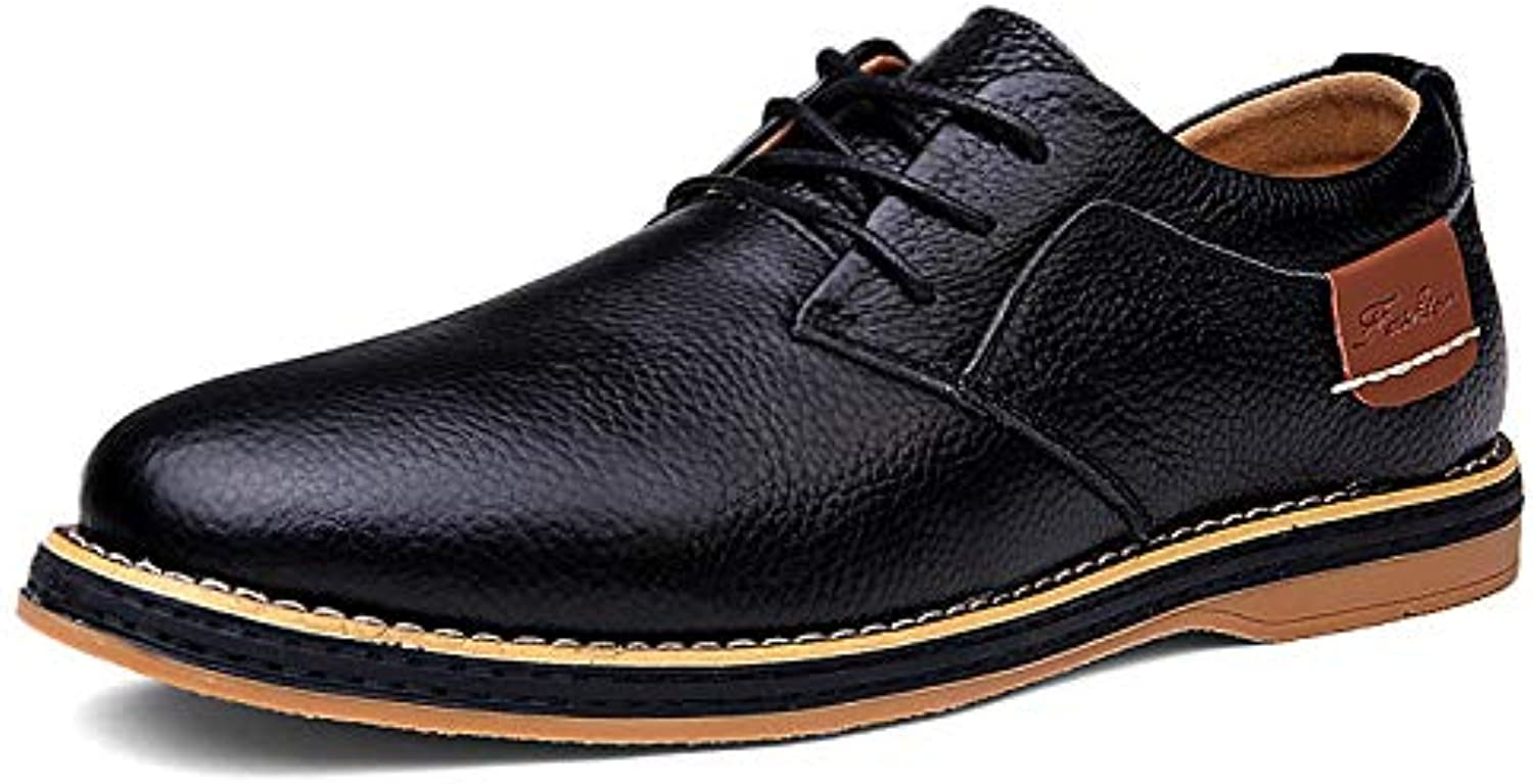 LOVDRAM Casual shoes Men'S Casual shoes New Men'S Casual shoes Breathable Pu Men'S shoes Casual Business Pu Men 6111