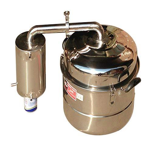 10L Alambique Destilador Acero inoxidable Enfriador Termometro Agua Esencial Aceite