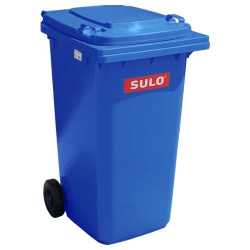 Mülleimer SULO, handgearbeitete 240L mit Rädern und Deckel Bleu (22066)