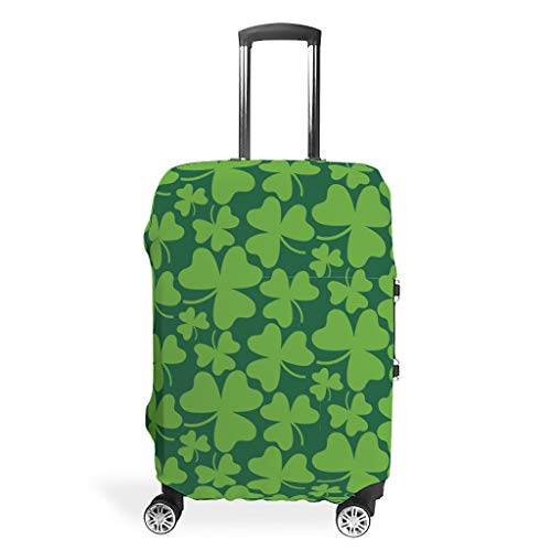 St Patrick's Day Cool Travel Luggage Protective Covers for 19'-32' Suitcase White m(22-24 inch)