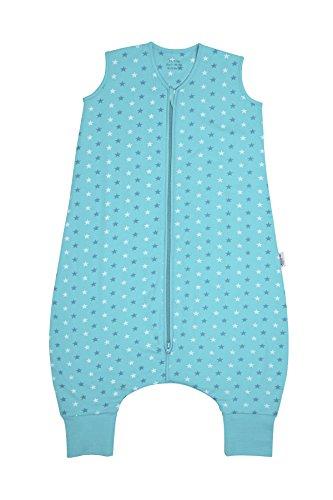 Schlummersack Schlafsack mit Beinen leicht gefüttert für den Sommer in 1.0 Tog - Teal Stars - 90 cm