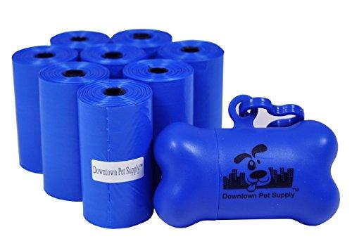 180 Pet Waste Bags Dog Waste Bags Bulk Poop Bags with Leash Clip and Bone Bag Dispenser  180 Bags Blue