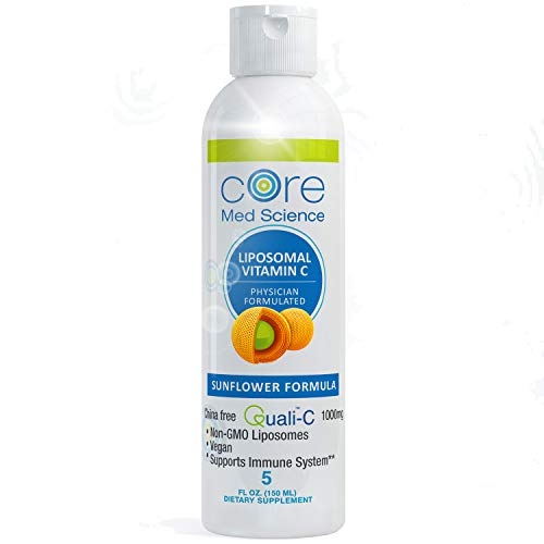 Liposomal Vitamin C 1000 mg Liquid - Sunflower Formula - Quali®-C Vitamin C from Scotland - Made in The USA - Formed LIPOSOMES - Highest Absorption - Immune Support - Non-GMO, Non-Soy - 30 Servings