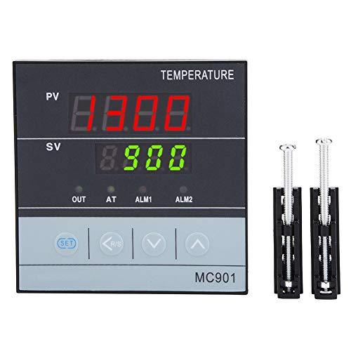 Temperaturregler, MC901 K Typ PT100 Digital PID Wasserdicht Staubdicht Anti-Schock Temperaturregler Sensoreingang Relais SSR Ausgang