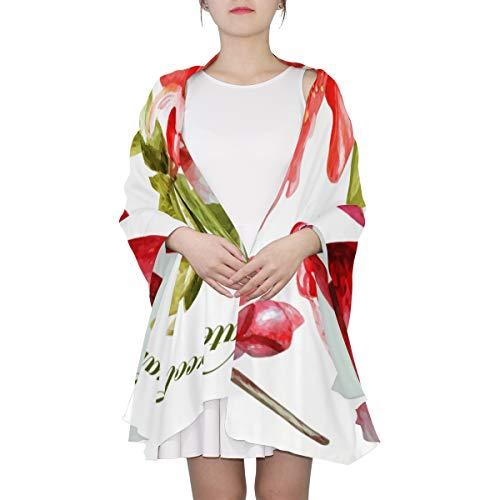 Durian-Frucht mit Blättern und Blumen Einzigartiger Mode-Schal für Frauen Leichte Mode Herbst Winter Print Schals Schal Wraps Geschenke für den Vorfrühling