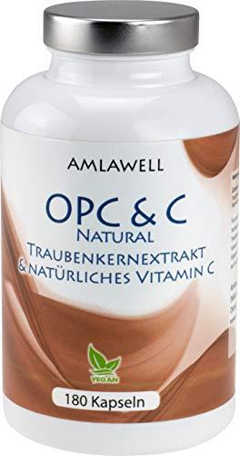 Amlawell OPC & C / 180 Kapseln a 700mg / Zertifiziert / 6-Monats-Packung!