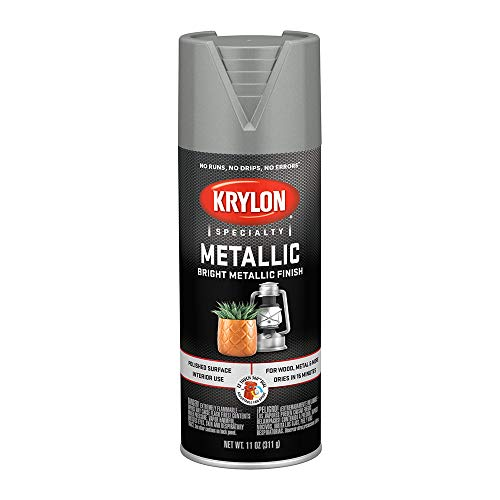 Krylon K1404 Metallic Spray Paint, Chrome Aluminum