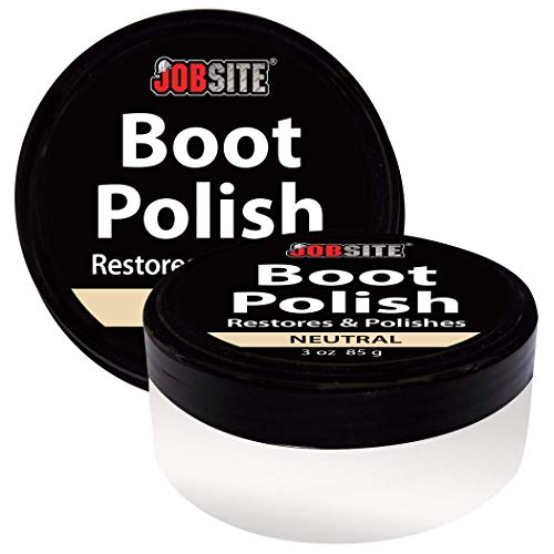 Jobsite Lugar de Trabajo Premium Leather Boot & Shoe Polish Crema – restaura, Condiciones y abrillanta – 3 oz