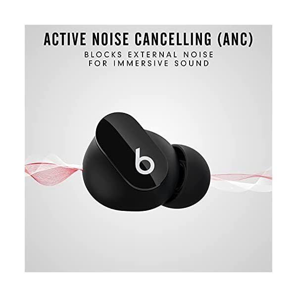 New Beats Studio Buds – True Wireless Noise CancellingEarbuds– Compatible with Apple & Android, Built-in Microphone, IPX4 Rating, Sweat Resistant Earphones, Class 1 BluetoothHeadphones – Black