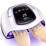 Lámpara UV LED De Gel Para Uñas 108W Secador UV LED Luz Gel Para Uñas Dos Manos Lámparas Curado Salón Profesional Con 4 Ajustes Temporizador Pantalla Táctil LCD Y Sensor Automático Inteligente