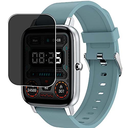 Vaxson TPU Pellicola Privacy, compatibile con Adhope H80 1.69' smartwatch Smart Watch, Screen Protector Film Filtro Privacy [ Non Vetro Temperato ]