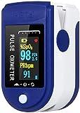 Pulsioxímetro de dedo, pulsioxímetro de dedo portátil profesional con pantalla LED para mediciones de frecuencia, pulso (PR) y saturación de oxígeno (SpO2), para uso doméstico, fitness y deportes