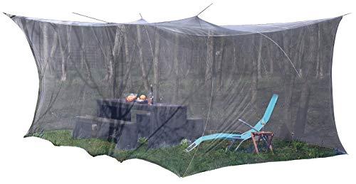 infactory Fliegennetz: XXL-Moskitonetz, Innen & Außen, 300 x 500 x 250 cm, 220 Mesh, schwarz (Moskitozelt)