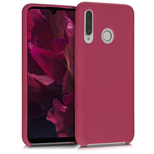 kwmobile Cover Compatibile con Huawei P30 Lite - Custodia in Silicone TPU - Back Case Protezione Cellulare Fucsia Matt