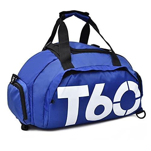 New Sport Gym Bag Uomo Donna Outdoor Impermeabile Spazio separato per custodia per scarpe Fitness Hide Backpack sac de, SkyBlue