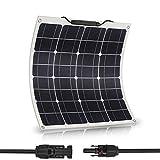 JoaSinc Pannello solare 50W Monocristallino, modulo fotovoltaico 50W, per camper, yacht, giardino, roulotte