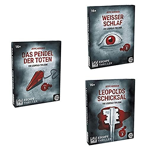 50 Clues, Escape-Thriller zum Mitspielen und Rätseln, Exitgame, Rätselspiel, Krimispiel Trilogie, Teil 1-3 im Bundle