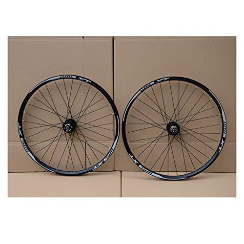 MTB Fahrrad Laufradsatz 26 27.5 29 In Mountainbike-Rad Double Layer Alufelge Abgedichtetes Lager 7-11 Geschwindigkeit Cassette Hub Scheibenbremse 1100g QR (Color : A, Size : 27.5in)