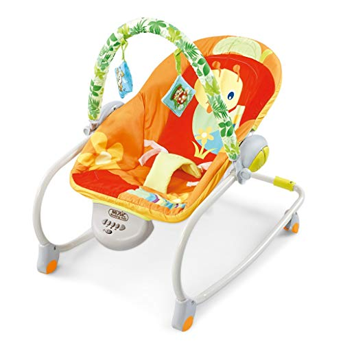 Baby Music Rocking Chair,Multifunctional Toddlers Swing Chair,Portable Folded Baby Swing Cradle for Infants Rocker Swing Chair with Music
