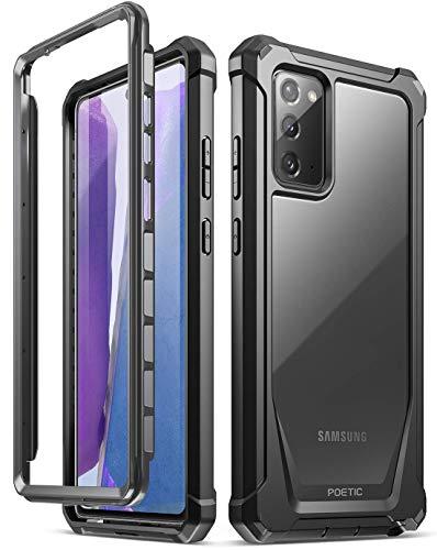 POETIC Guardian-Serie Entwickelt für Samsung Galaxy Note 20 Hülle, stoßfeste Ganzkörper-Hybrid-Stoßstangenabdeckung, OHNE eingebauten Bildschirmschutz, schwarz/klar