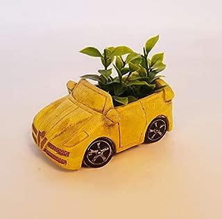 Wonderland Table top Cement Succulent Planter - (Car) Pot Grey Set Small Concrete Plant Pot