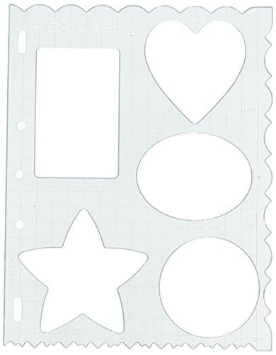 Fiskars 8.5x11 Inch Sheet Mixed Shapes and Borders Shape Template (48617097F)