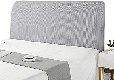 Bed Headboard Slipcover Stretch Headboard Cover Double/Single Headboard Slipcover King Size 180cm Dust-Proof Thickening Protector Dust-Proof Cover Beige (Color : F, Size : 150cm)