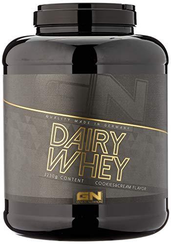 GN Laboratories 100% Dairy Whey Proteinshake Protein Eiweiß Bodybuilding Eiweißpulver (2230g Cookies Cream - Schokokekse)