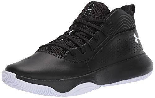 Under Armour Men's Lockdown 4 Basketball Shoe, Black (005)/Black, 9.5