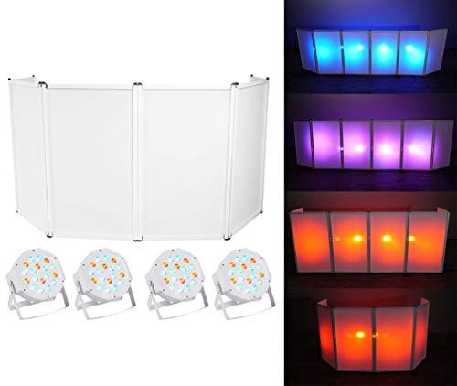 Rockville RFAAW DJ Event Facade 6-Panel Metal Frame Booth+Bag+Scrim+ 4 Par Lights