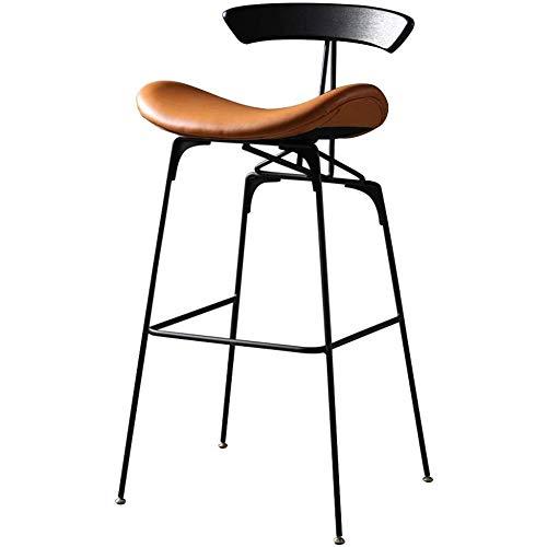 Moderne minimalistische barkruk vintage smeedijzeren barkruk Nordic vrije tijd barkruk barkruk voor woonkamer keuken restaurants cafés bars bruin