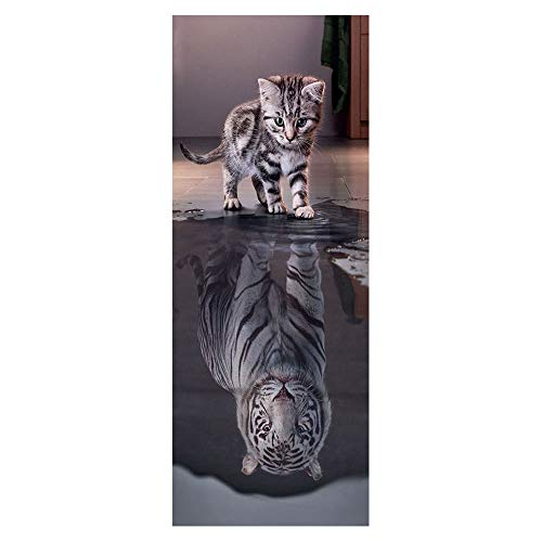 ZDDBD Türaufkleber Türposter Türfolie Türtapete Poster Aufkleber 3D Selbstklebend Wasserdicht Türaufklebers 90 * 200Cm- Betrachtung