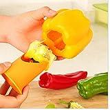 TOSSPER 2 Unids Chili Tomate Corres Fruta Vegetal Pimiento Corer Hogar Restaurante Hotel Herramientas De Cocina Cocina Gadgets Aleatorio Color
