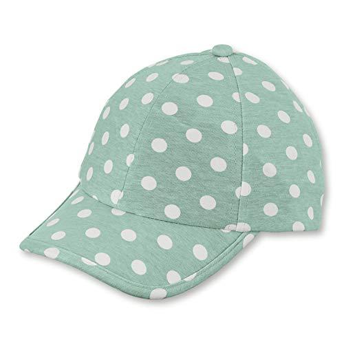 Sterntaler Baseball-Cap für Mädchen mit Größenregulierung und Punktemuster, Alter: 12-18 Monate, Größe: 49, Helltürkis