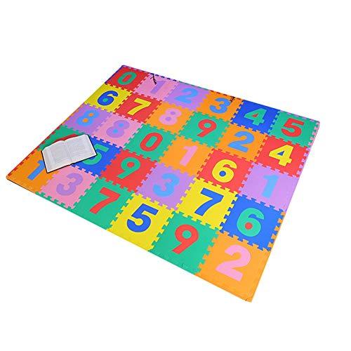 HLMIN Tapis De Puzzles/Jigsaw Toddler, Kids Baby Tapis Jigsaw for Bébé, for Bébé, for Bébé Et for Tout-Petits - Plusieurs Tailles (0-9) (Color : A, Size : 30x30x1CM(30PCS))