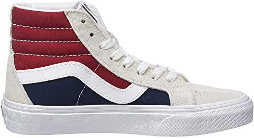 Vans Sk8-hi Reissue, Unisex-Erwachsene High-Top Sneaker, Mehrfarbig (Retro Block-White/Red), 36 EU